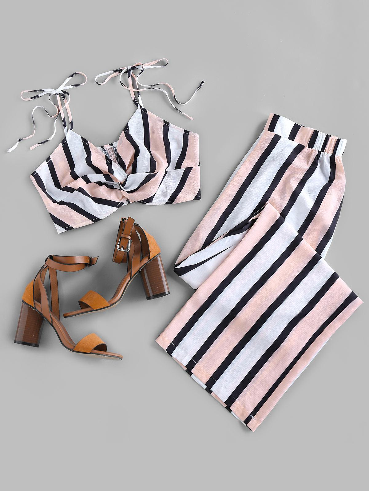 ZAFUL Twist Striped Co Ord Set