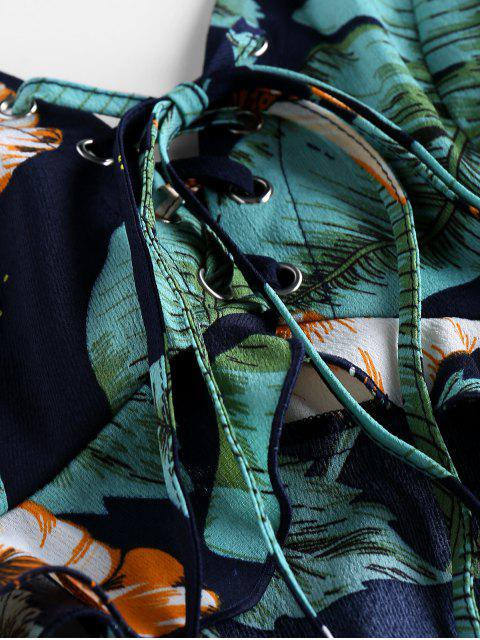 Top e Pantaloni Tropicali di ZAFUL - Blu Mezzanotte  L Mobile