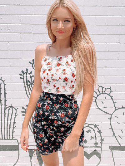 ZAFUL Vestido De Sol Con Estampado Floral - Multicolor-a Xl