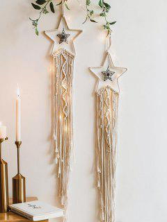 Bohemian Star Shape Rope Fringe Dream Catcher - Warm White