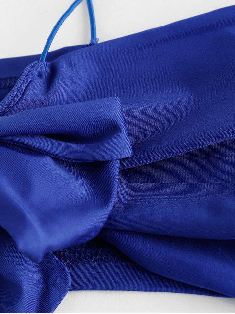 ZAFUL Zickzack Top und Shorts mit Schnürung Set - Kobaltblau XL Mobile