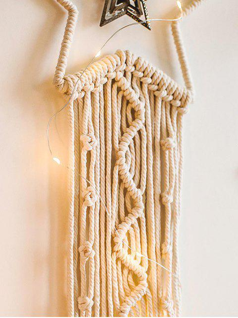 fashion Bohemian Star Shape Rope Fringe Dream Catcher - WARM WHITE  Mobile