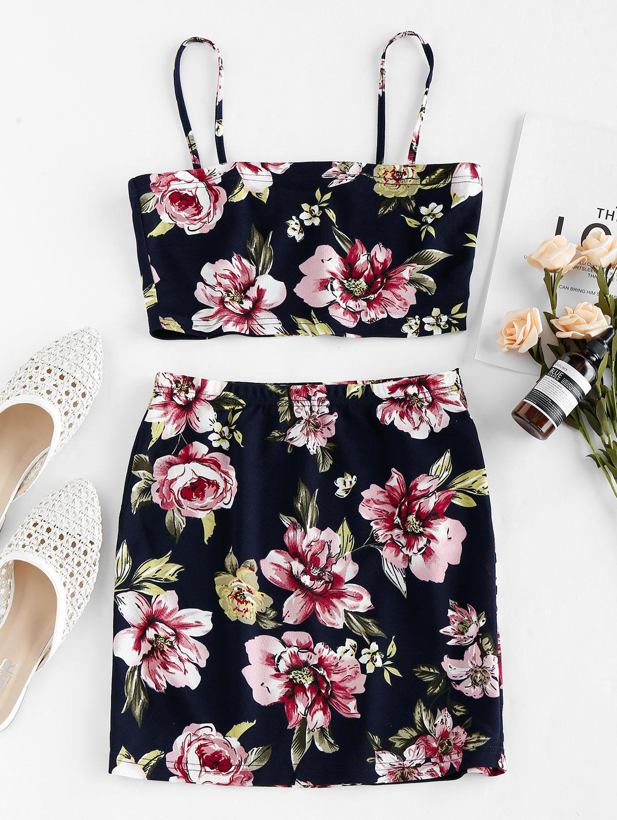 ZAFUL Floral Print Co Ord Set