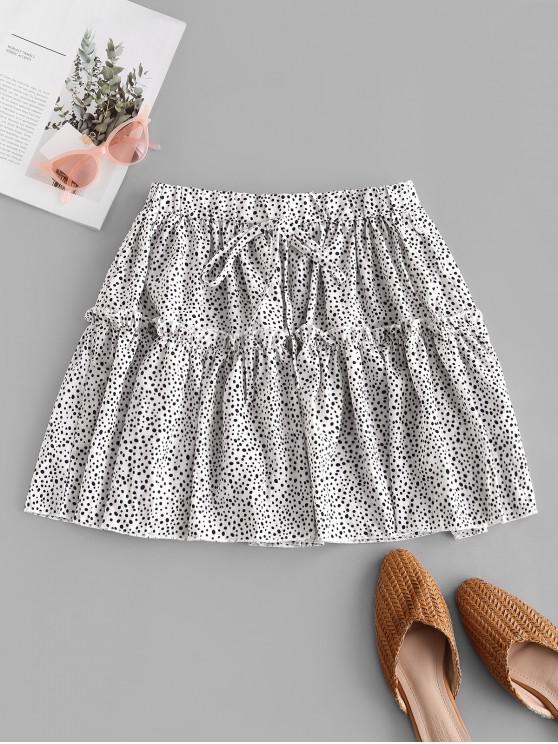 new Flounce Polka Dot Mini Skirt - WHITE XL
