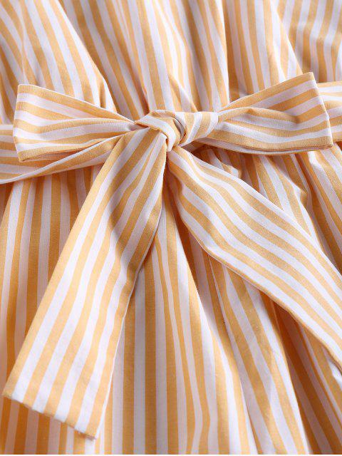 ZAFUL Camisole mit Gürtel und Streifen - Niedliches Gummi Gelb S Mobile