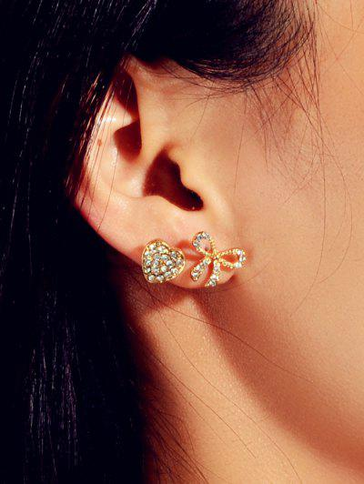 3Pairs Rhinestone Earrings Set