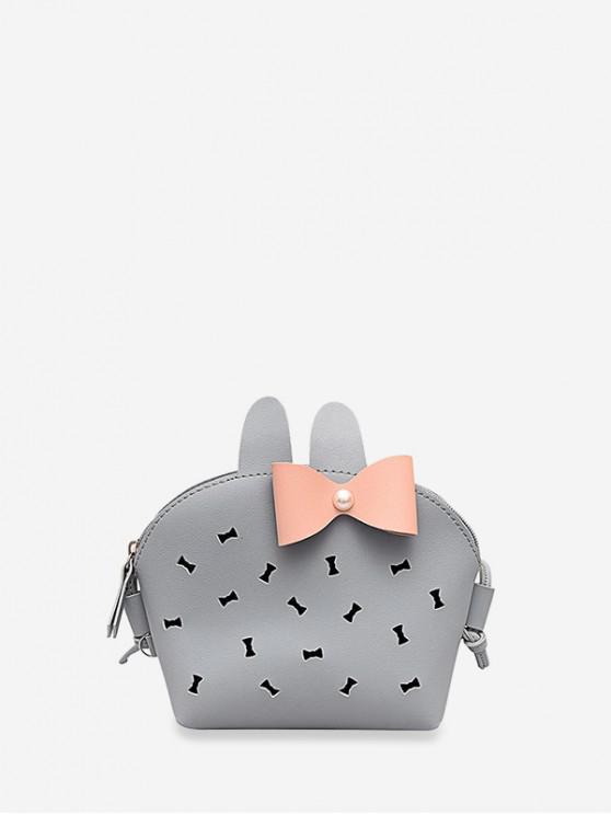 Bolso Cruzado Conejo Moño - Nube Gris