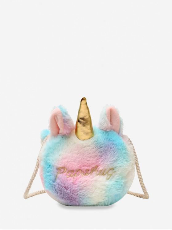 Bolsa Piel Sintética Unicornio - Multicolor