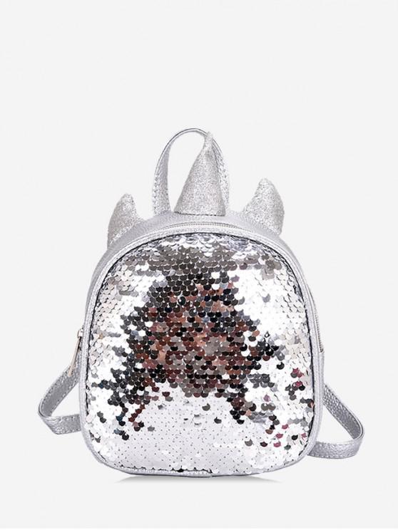 latest Sequined Unicorn Shape Backpack - SILVER