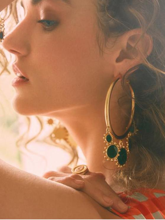 affordable Sun C-shape Stud Earrings - GOLD