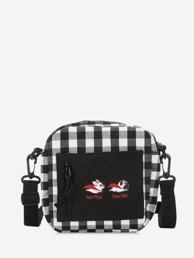 Canvas Plaid Leisure Crossbody Bag