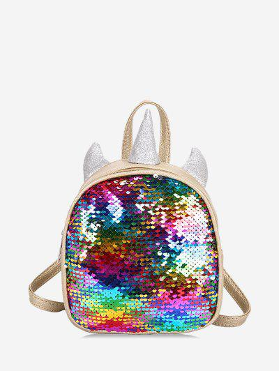 Sequined Unicorn Shape Backpack - Multi