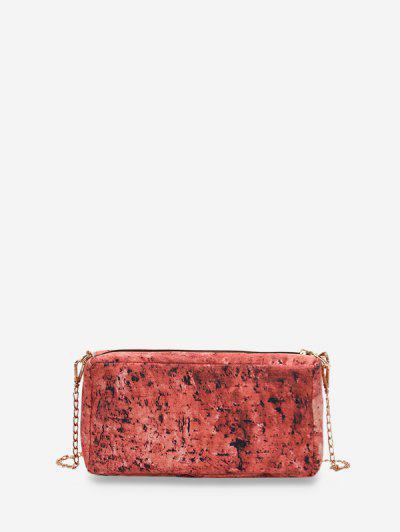 Brick Pattern Crossbody Bag