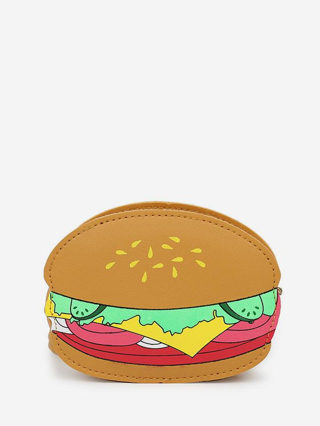 Hamburger Pattern Crossbody Bag