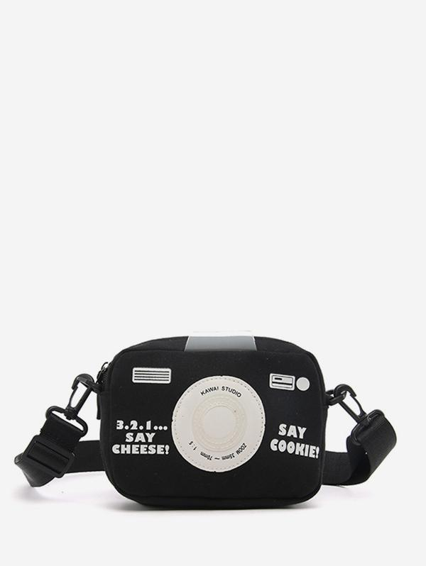 Camera Pattern Crossbody Bag