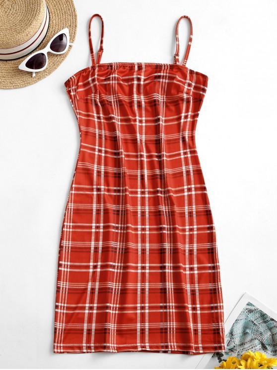 Womens Glamorous Festival Red//Black Midi Skirt RRP £29.99
