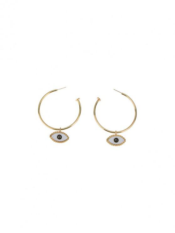 unique Cartoon Eye Hoop Earrings - GOLD