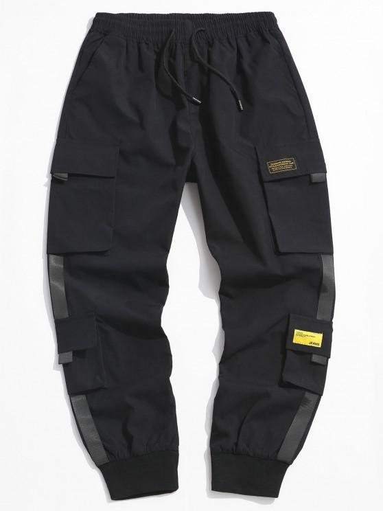 سروال إلكتروني يزين الشحن - أسود XL