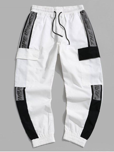 Jogger Pantalones de Estampado de Letras - Blanco S Mobile
