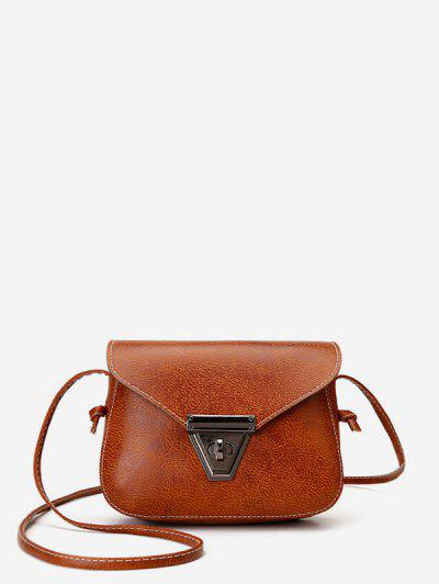Cover Retro Mini Crossbody Bag - Light Brown