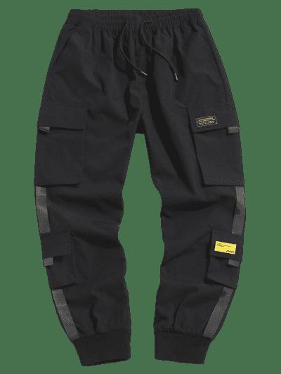 Letter Appliques Cargo Pants