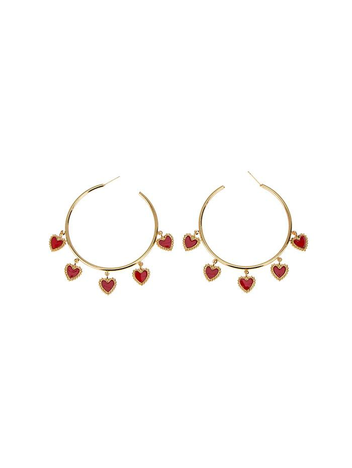 Hearts Hoop Earrings thumbnail