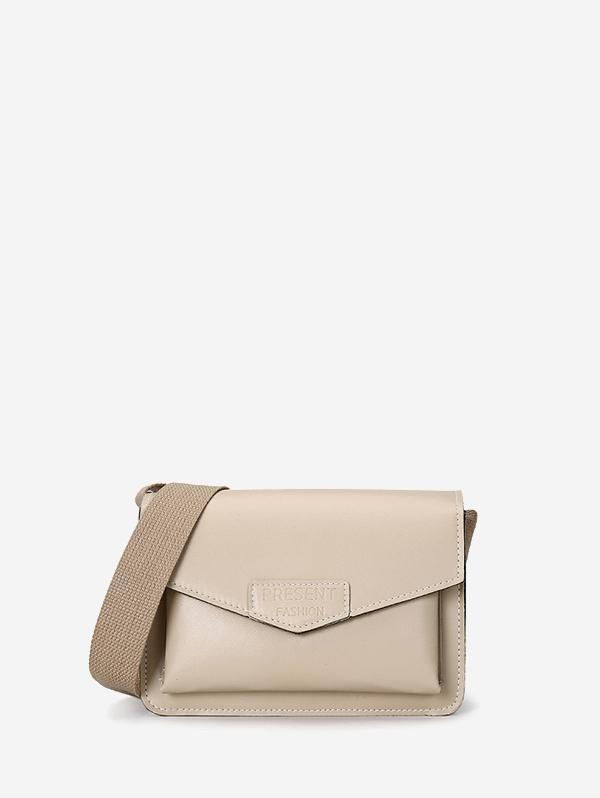 Envelope Wide Strap Crossbody Bag
