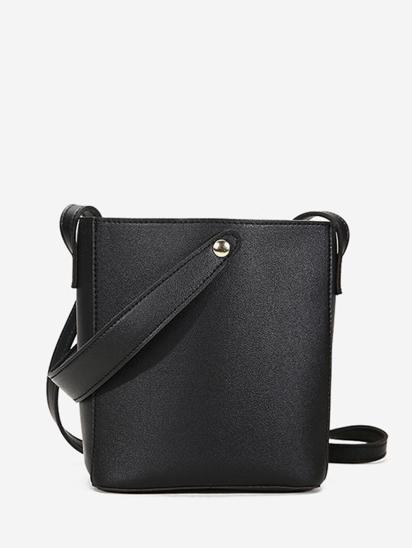 Solid Square Cross Body Bag