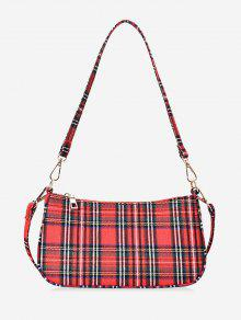 حقيبة الكتف قماش متقلب البسيطة - أحمر
