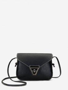 غطاء ريترو البسيطة حقيبة CROSSBODY - أسود