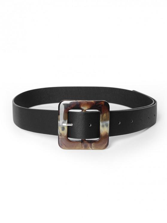 Cinturón Retro Hebilla - Negro