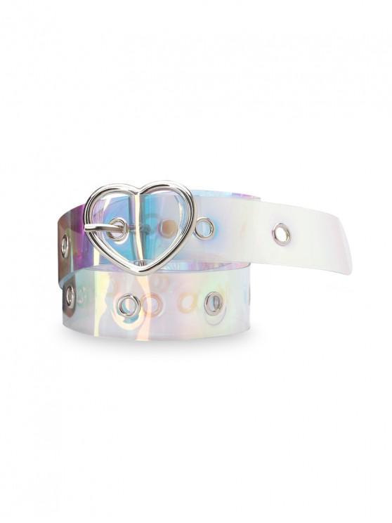 Cinturón de Hebilla de Plástico Luz de Corazón - Plata