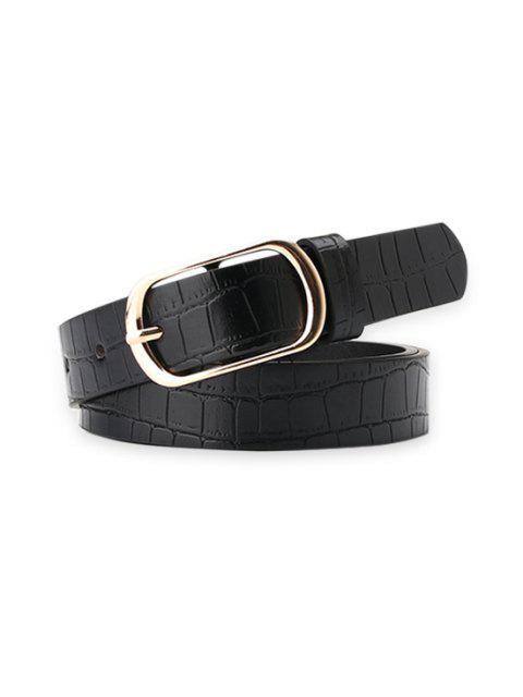 Snakeskin Buckle-Kleid-Gurt - Schwarz  Mobile
