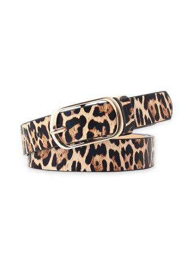 Leopard Buckle Dress Belt - Leopard