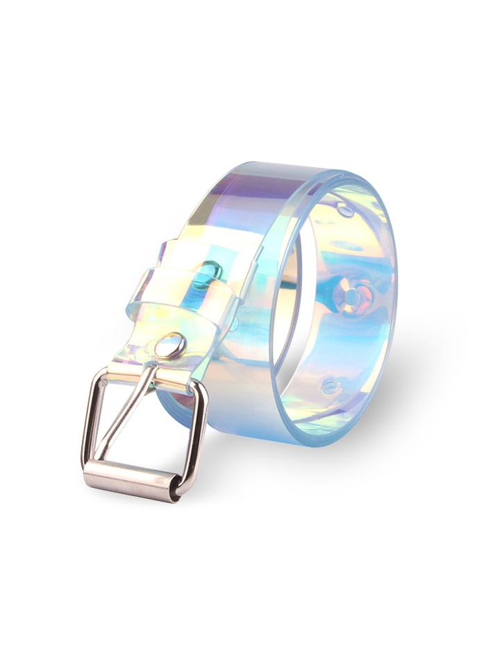 Square Buckle Hologram Belt