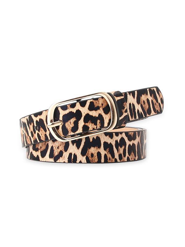Leopard Buckle Dress Belt