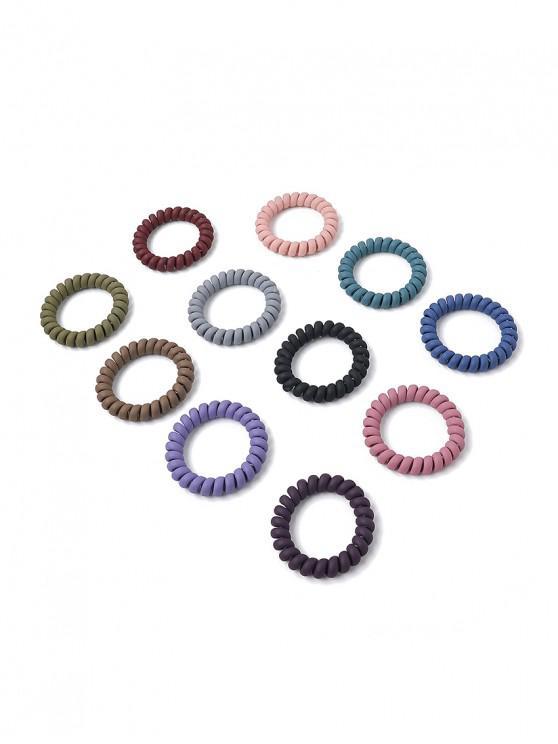 Conjunto de Joyas de Pelo Mate Atado - Multicolor