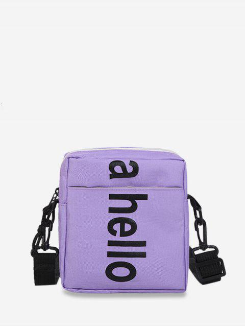 Oxford Grafikdruck Buchstabe Umhängetasche mit Reißverschluss - Lila Mimose  Mobile