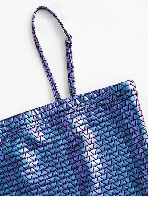 ZAFUL Colheita Geométrica Colorida Camisole Cortado - Roxa S Mobile