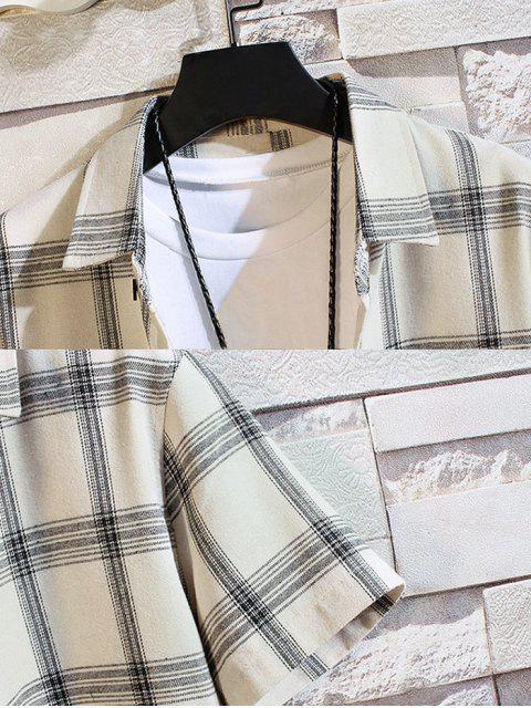Kurzärmliges Hemd mit Knopfverschluss und Knöpfen - Weiß XS Mobile