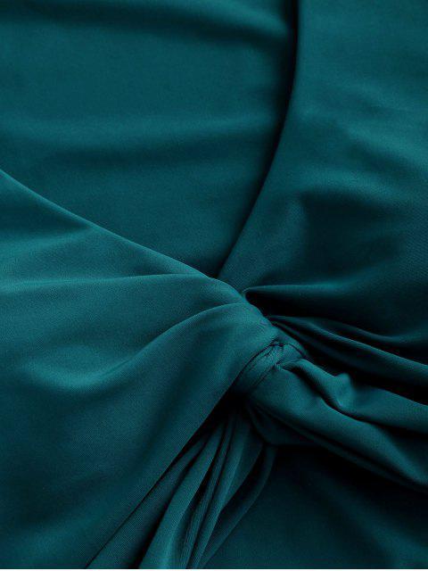 ZAFUL Maillot de Bain Court Tordu en Avant à Taille Haute Deux Pièces - Bleu Verdâtre M Mobile