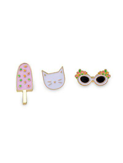 3Pcs Cartoon Brooch Set