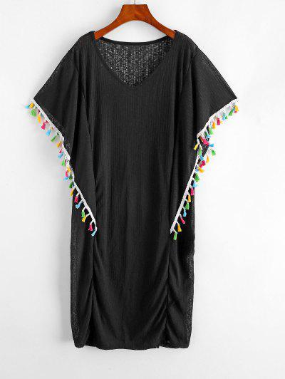 Tassels Trim Plus Size Beach Dress