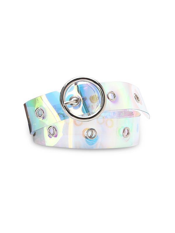 Plastic Laser light Buckle Belt
