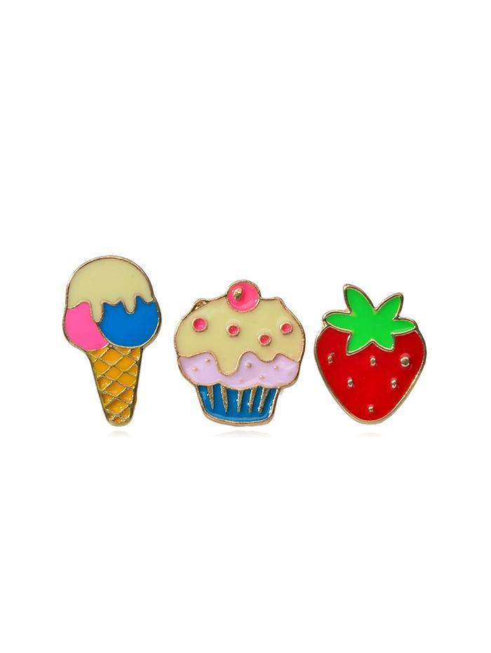 3Pcs Strawberry Ice-cream Brooch Set thumbnail