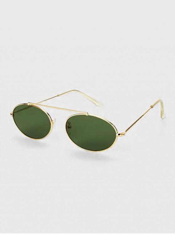 Gafas de Sol Polarizadas con Ovaladas con Barra de Metal - Oro