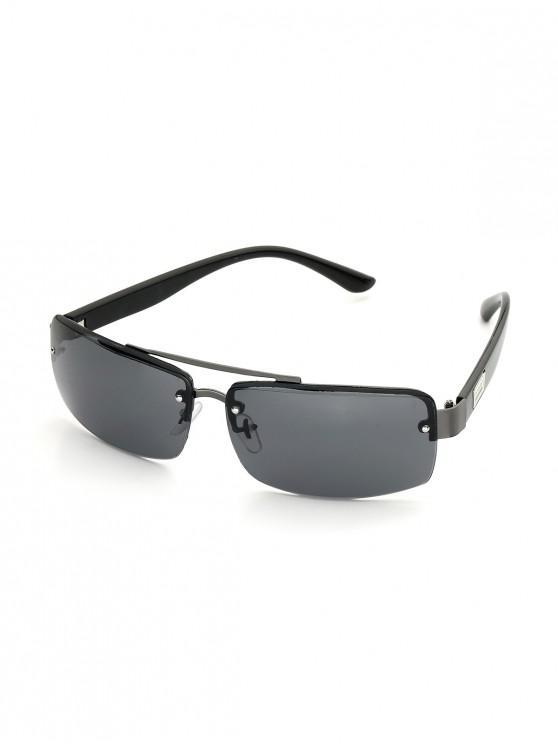 Gafas de Sol Rectangulares Semi-dye - Gris Ceniza