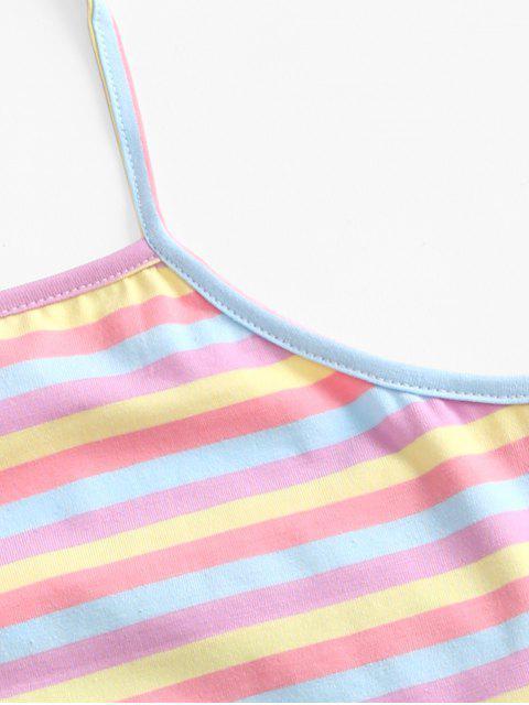 Top Colorida de Alças de Malha com Riscas - Multi-A M Mobile