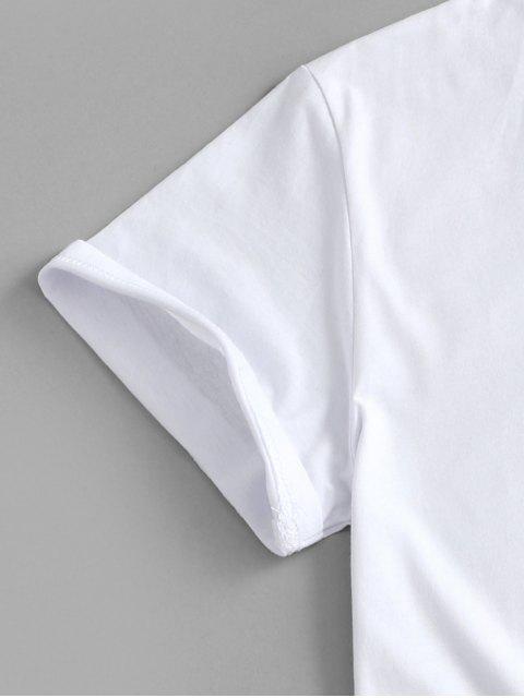 T-shirt de Base Graphique - Blanc 2XL Mobile