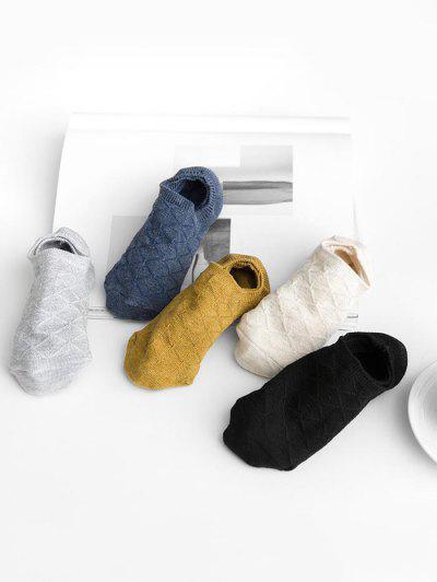 5Pairs Rhombus Invisible Socks Set